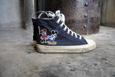 vintage shoes 1990's Mickey Mouse and Minnie by youngandukraine,