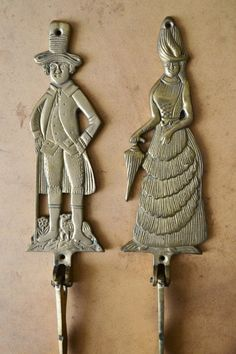 Your place to buy and sell all things handmade Victorian Men, Hat Hooks, Brass, Lady, Handmade, Stuff To Buy, Vintage, Decor, Hand Made