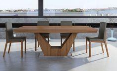 Muebles COSAS de ARQUITECTOS: Mesa de Comedor extensible Moderna Verona - Mesas de Comedor de Diseño - Muebles de Diseño