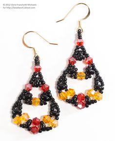 Fiesta Twin Bead and Crystal Earrings