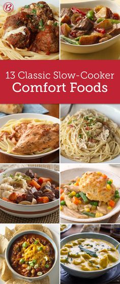 Comfort food and slow cookers go hand-in-hand with these classic, cozy meals that are ready when you walk in the door. From hearty pastas to classic pot pies, these are the recipes you'll turn to all winter long. Slow Cooker Recipes, Crockpot Meals, Freezer Meals, Crock Pot Freezer, Crockpot Dishes, Crock Pot Slow Cooker, Cooking Recipes, Slowcooker, Long Winter