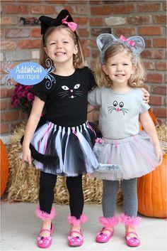 Coordinating Sibling Halloween Costumes Cat and by AddieKatShop