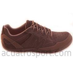 detailed look a1636 31141 Zapato para calle de Merrell modelo sector umber en color negro para hombre.  Calzado de