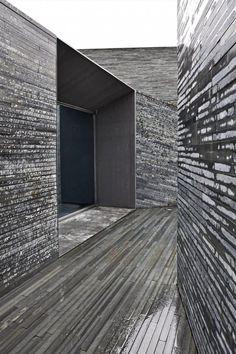 wood texture stainless modern leftovers kitchen facade exterior drinks concrete architecture Japanese Trash masculine design tastethis