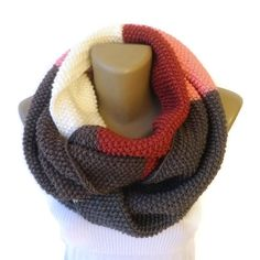 infinity scarf / knit infinity scarf / women scarves / knitted chunky scarf / cowl / neckwarmer on Etsy, $37.00