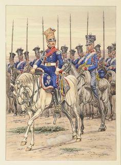 3er Reg éclaireurs de la Garde Impériale ,campaign dress, 1813-1814.