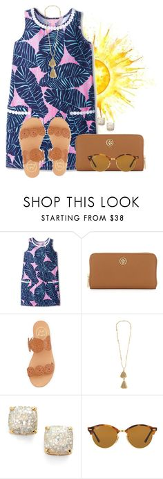 """Best of travels to my bestfriend Rhian (@flroasburn)"" by annaewakefield ❤ liked on Polyvore featuring Lilly Pulitzer, Tory Burch, Jack Rogers, Isabel Marant, Kate Spade and Ray-Ban"