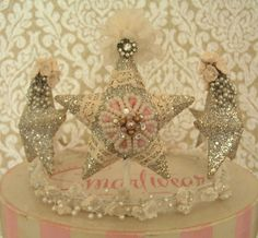 A Wendy Addison crown embellished.   Blogged here: www.velvetstrawberries.typepad.com by noelle