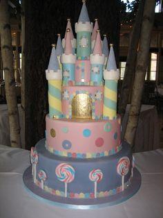 Amy Beck Cake Design - Chicago, IL - Candyland castle birthday cake - #amybeckcakedesign