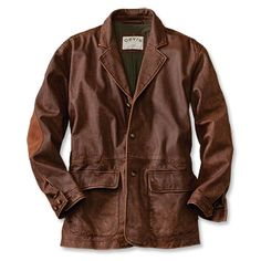 Distressed Brown Leather Jacket / Hamilton Distressed Leather ...