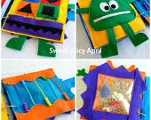 READY-MADE Felt Quiet Activity Book for Babies, Toddlers and Children (Finished Product)