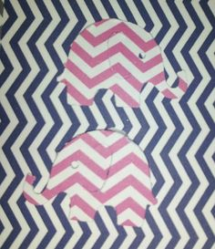 ConfettiPink Chevron Elephant 150 cut outs by CassCouture12, $4.00