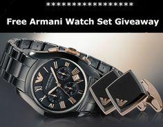 Win A FREE Armani Watch and Cuff Link Gift Set