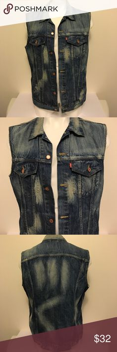 Father's Day! Like new! Levi Strauss Denim vest🔥 Like new! Has the cut off sleeve look. Awesome fade on it! Just a clean piece😀 levi strauss Jackets & Coats Vests