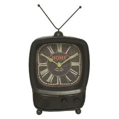 Kmart has wall clocks for every room in the house. Retro Table, Tabletop Clocks, Metal Clock, Alarm Clock, Contemporary Style, Tv, Creative, Accessories, Basement Ideas