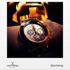 The mix of lights and shadows makes this shot by @jackeeig absolutely great! Use #ToyWatch to be featured and share your #TWlove! #ToyWatch #Chrono #gold #watch #watches #style #fashion #accessories #menswear #forhim