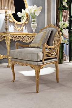 Medea Prestige, Sofa, Armchairs Furniture Near Me, Fine Furniture, Furniture Design, Rococo, Luxury Furniture Stores, Georgian Furniture, Wooden Armchair, Classic Sofa, Classic Furniture