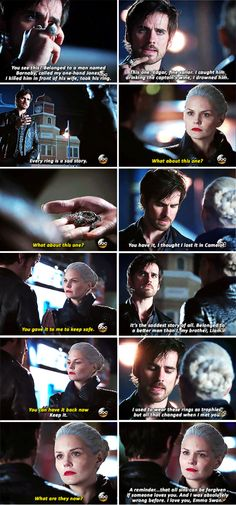 """A reminder... that all sins can be forgiven if someone loves you"" - Killian and Dark Swan #OnceUponATime"