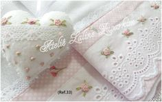 Ribbon Embroidery Tutorial, Baby Embroidery, Japanese Embroidery, Silk Ribbon Embroidery, Cross Stitch Embroidery, Baby Sheets, Baby Bedding Sets, Linen Towels, Brazilian Embroidery