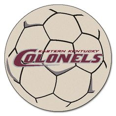 Eastern Kentucky Colonels NCAA Soccer Ball Round Floor Mat (29)
