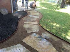 Landscaping Company, Sidewalks, Walkways, Stepping Stones, Paths, Concrete, Decor Ideas, Landscape, Outdoor Decor