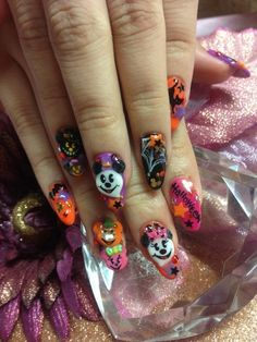 Disney Halloween #nail #nails #nailsart