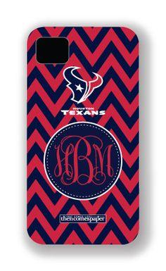 Houston Texans Personalized iPhone Case, Cover, Shell - Chevron Monogram 3. $45.00, via Etsy.