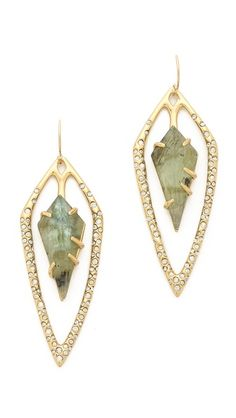 tourmaline glass stone tear earrings http://rstyle.me/n/rucm5r9te