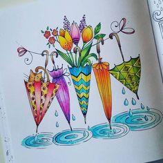 cute drawings of love Doodle Drawings, Doodle Art, Easy Drawings, Watercolor Cards, Watercolor Paintings, Watercolour, Happy Paintings, Whimsical Art, Zentangle