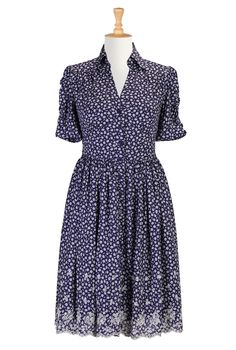 highly adorable shirt dress this reminds me of my great grandma Edgar in a good way just add pretty red lipstick love that lady !