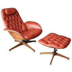 Vintage Lounge Chair and Ottoman by George Mulhauser for Plycraft | From a unique collection of antique and modern lounge chairs at http://www.1stdibs.com/furniture/seating/lounge-chairs/