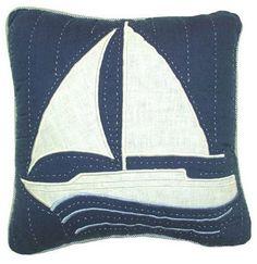 Nantucket Dream Sailboat Throw Pillow