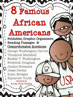Funky Fresh Firsties: 8 Famous African Americans {and a Freebie}