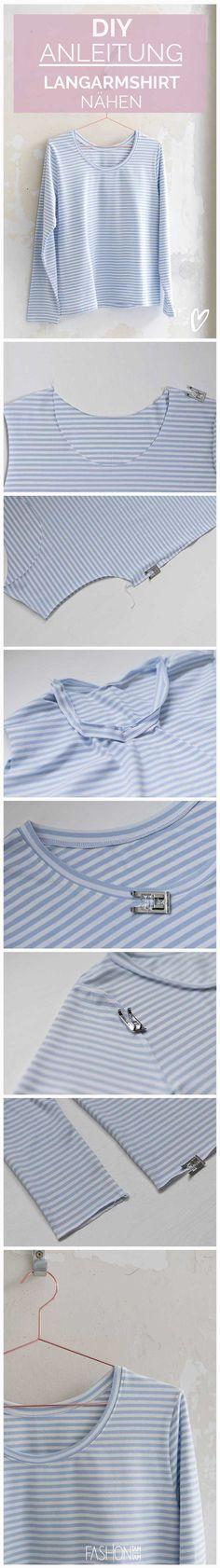 How to Shirt mit langen Ärmeln nähen, Anleitung T-Shirt nähen, Longsleeve nähen, Shirt nähen, Ärmel verarbeiten, Ärmel nähen, T-Shirt mit Streifen nähen, T-Shirt Selbermachen, Streifenhirt annähen, Anleitung Ärmel nähen, T-Shirt mit langen Ärmel nähen, T-Shirt Selbermachen, Ärmel mit nähen, Nähen für Anfänger, Nähen leicht, leicht Nähen, DIY Shirt, Streifenshirt, Streifenhirt nähen, T-Shirt nähen Overlock, DIY Longsleeve