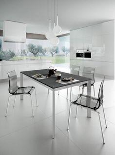Universe 110 - Jídelní stůl (šedá břidlice, hliník) | OKAY.cz