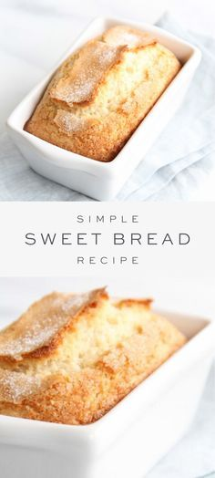 Bread Recipe - Sweet Bread is so incredibly easy to make and only takes 5 minutes hands on time. This easy Sweet B -Sweet Bread Recipe - Sweet Bread is so incredibly easy to make and only takes 5 minutes hands on time. This easy Sweet B - Breakfast Bread Recipes, Quick Bread Recipes, Easy Bread, Sweet Recipes, Easy Baking Recipes, Recipes With Cake Flour, Breakfast Snacks, Cleaning Recipes, Smores Dessert