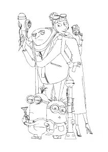 a beautiful coloring page with the characters of despicable me 2 ... - Taser Gun Cartoon Coloring Pages