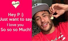 LOVE YOU SO SO SO MUCH, NEY !!!!!!!!!!!!!!!! <3 <3 <3 Say I Love You, Love Of My Life, My Love, Neymar, Baseball Cards, Sayings, Logos, Lyrics, Logo