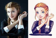 The Russian Artist Lera Kiryakova Loves Turning Celebrities into Sooo Cute Cartoon Characters. #celebrityportraits #cartoons #cartooncharacters #adorable