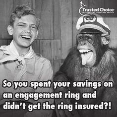 Yes - you need insurance for your wedding ring! #Bridal #ToDoList