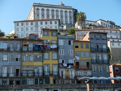 Old houses of Cais da Ribeira named a World Heritage Site by UNESCO in 1996 - Porto, Portugal