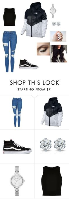 """""""Casual"""" by ermiraadili on Polyvore featuring Topshop, NIKE, Vans, Kate Spade and River Island"""