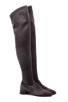 stivali stretch in velluto animal free #stretch #cuissardes #overknees #fashion #veganshoes #madeinitaly