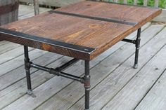 Pipe leg Coffee Table Industrial Coffee Table by ReclaimedWoodUSA