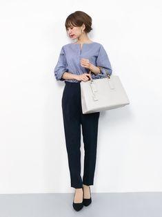 Office Fashion, Business Fashion, Business Attire, Street Fashion, Fall Fashion, Fashion Trends, Japanese Outfits, Japanese Fashion, Smart Casual Wear