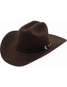 9de427b56e2 Stetson 4X Skyline Chocolate Felt Cowboy Hat Stetson Fedora