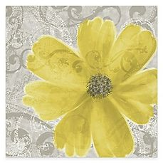 image of Flower Yellow Poppy Canvas Wall Art