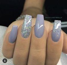 Pretty lavender & sparkly silver