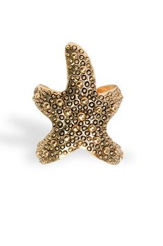 The Starfish Ring in Gold by Art Box from MFredric.com