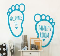 A beautiful #decoration for in your #kid's room. Personalize the wall with a #sticker with the name of your child.
